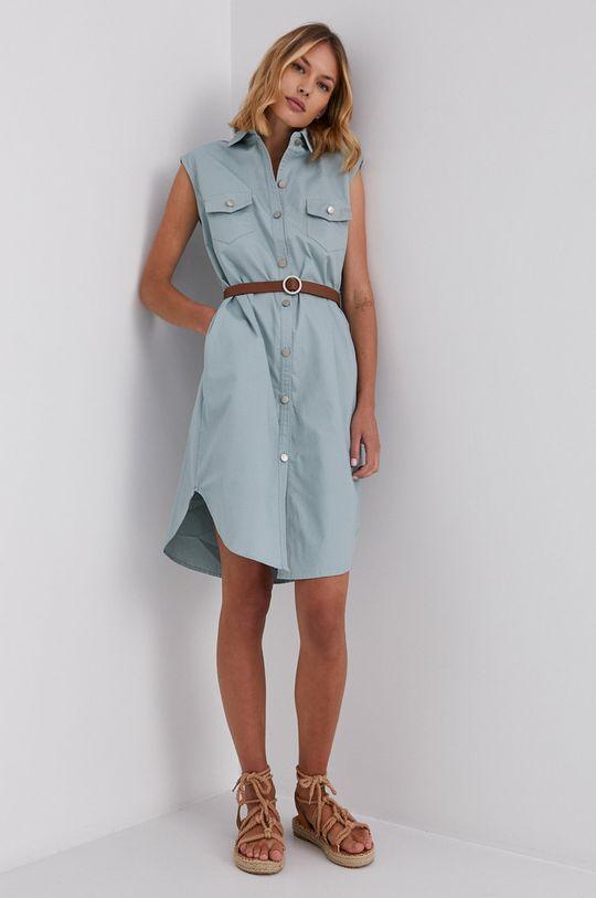 Answear Lab - Bavlněné šaty mátová