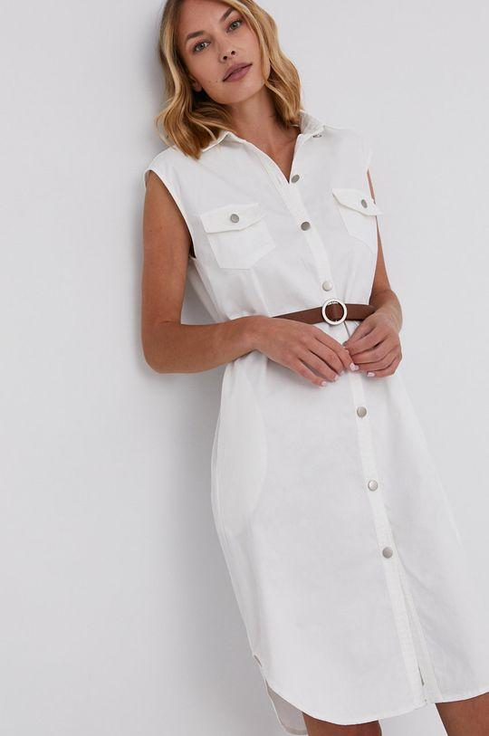 biały Answear Lab - Sukienka bawełniana Damski