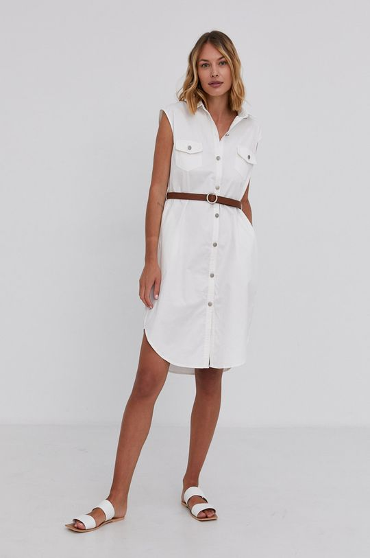 Answear Lab - Sukienka bawełniana biały