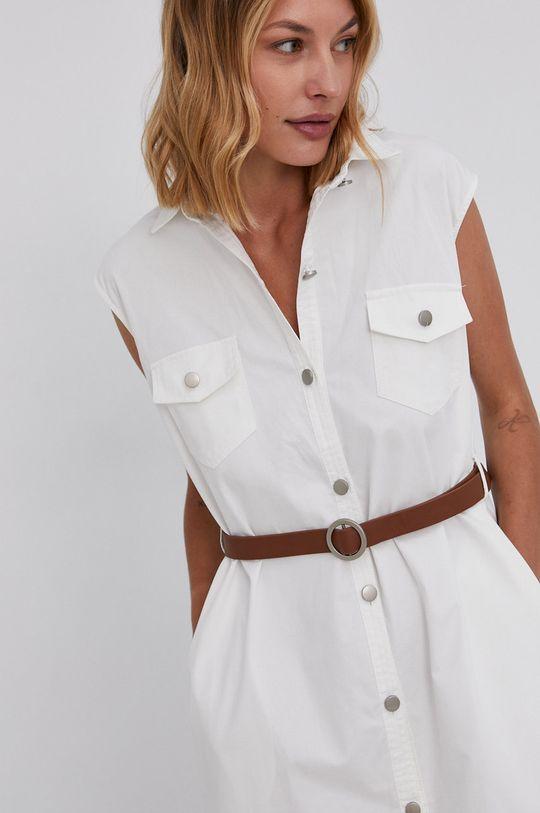 biały Answear Lab - Sukienka bawełniana