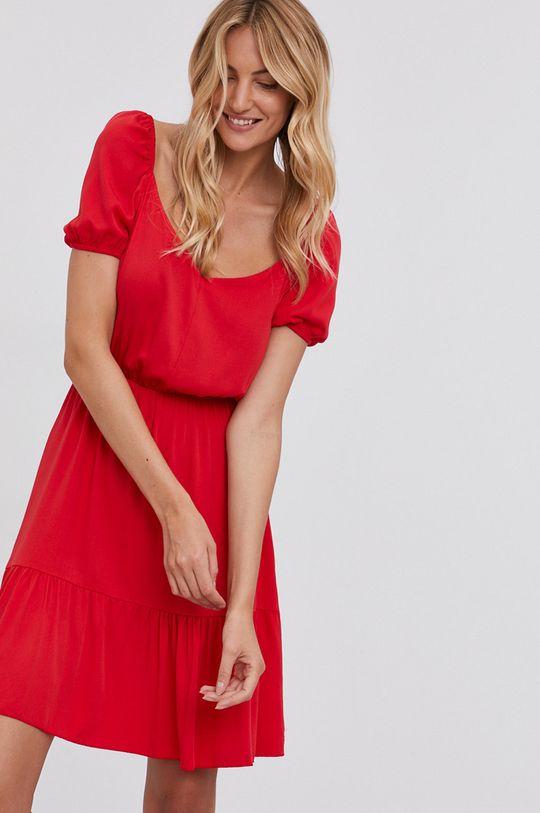 červená Answear Lab - Šaty Dámsky