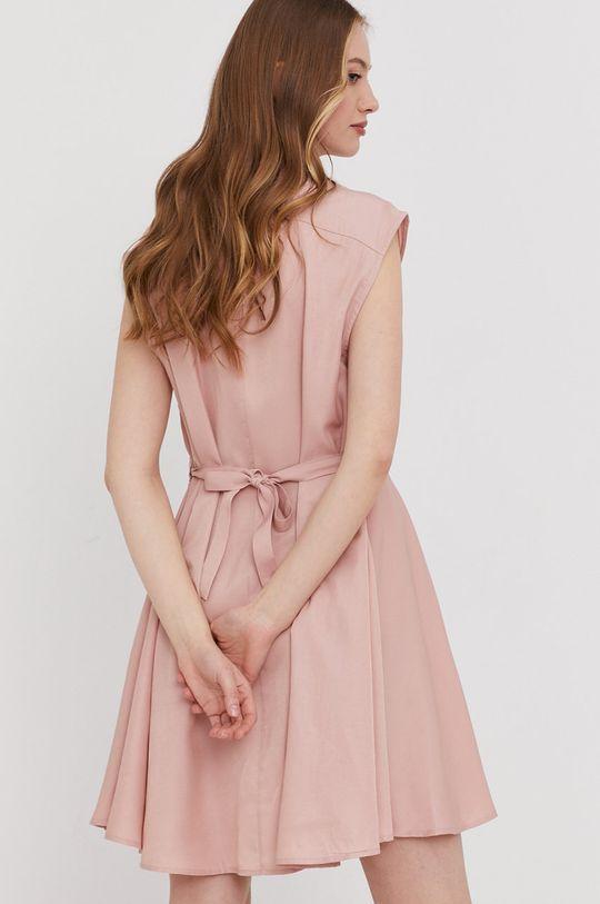 czerwony róż Answear Lab - Sukienka Damski