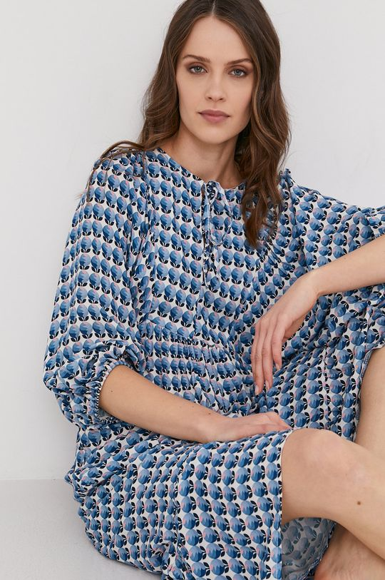 modrá Answear Lab - Šaty Dámsky