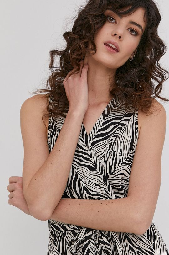 béžová Answear Lab - Šaty PRE-WINTER