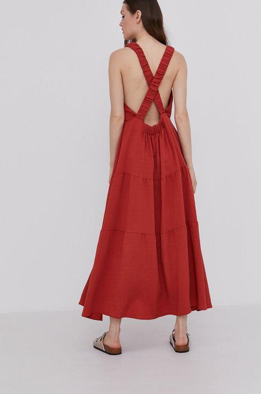 Answear Lab - Sukienka mahoniowy