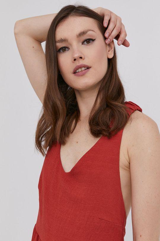 mahoniowy Answear Lab - Sukienka