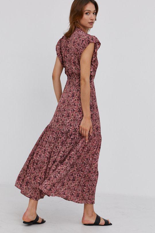 Answear Lab - Hedvábné šaty Silk Blend  70% Hedvábí, 30% Viskóza