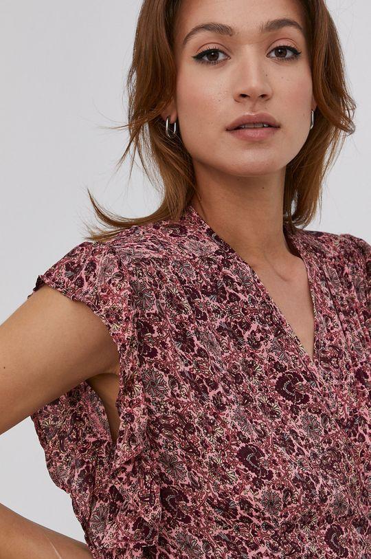 červená Answear Lab - Hedvábné šaty Silk Blend