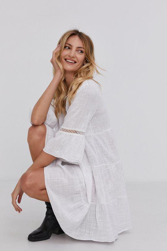 bílá Answear Lab - Bavlněné šaty Dámský