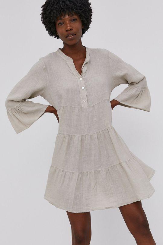 Answear Lab - Plátěné šaty Pure Linen  100% Len