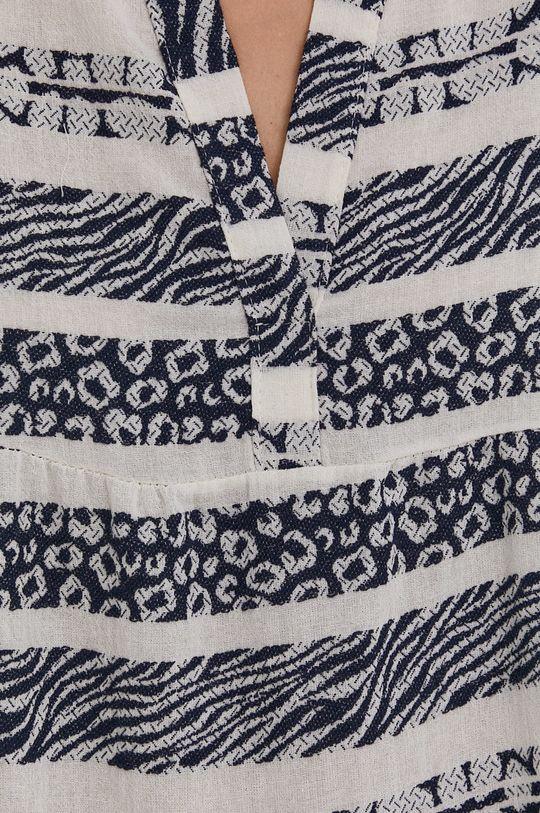 granatowy Answear Lab - Sukienka lniana Pure Linen