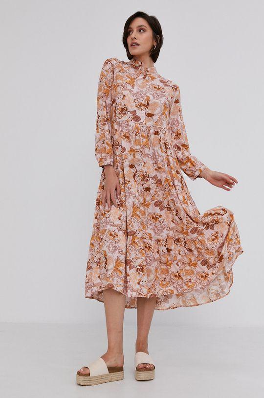 ružová Answear Lab - Šaty Dámsky