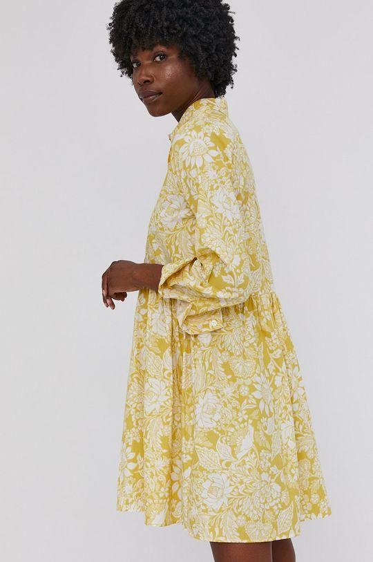 žlutá Answear Lab - Šaty
