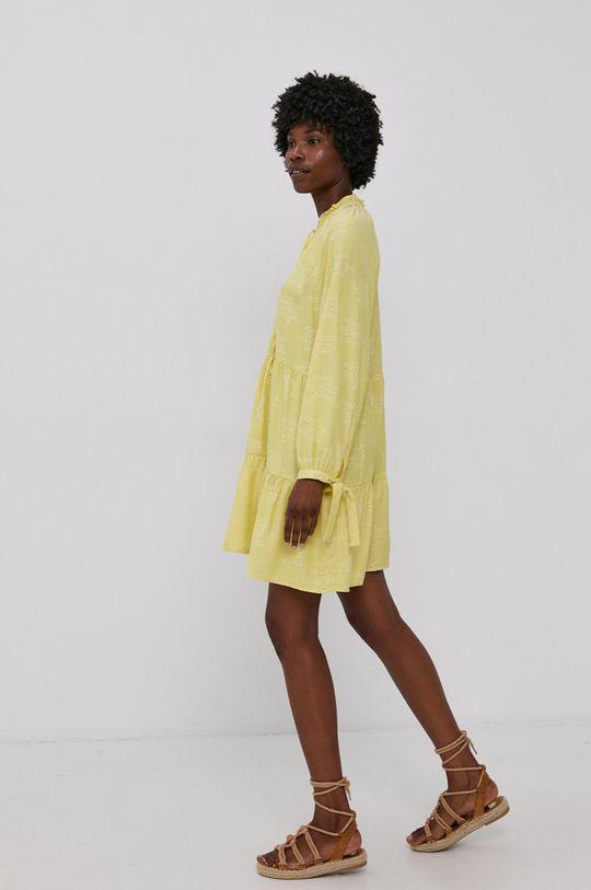 Answear Lab - Šaty žlutá