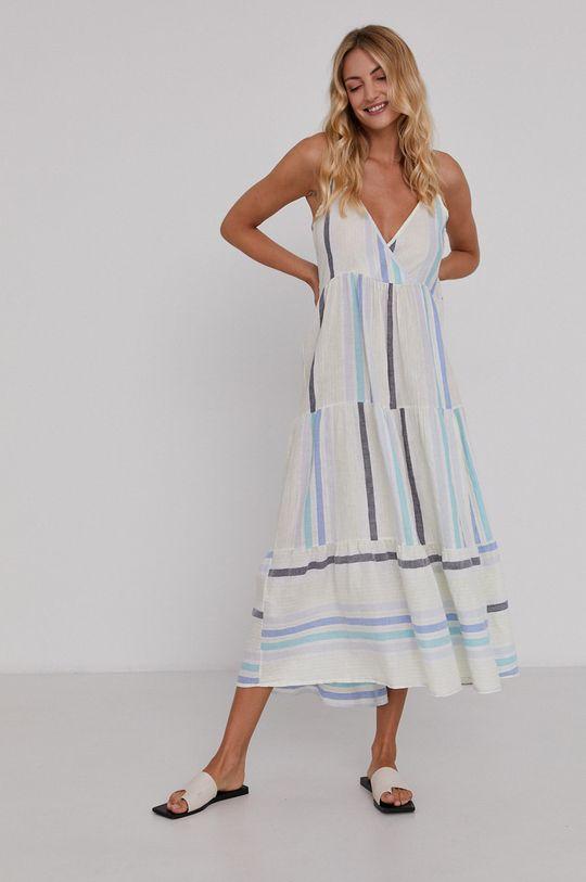 Answear Lab - Sukienka lniana 37 % Bawełna, 63 % Len