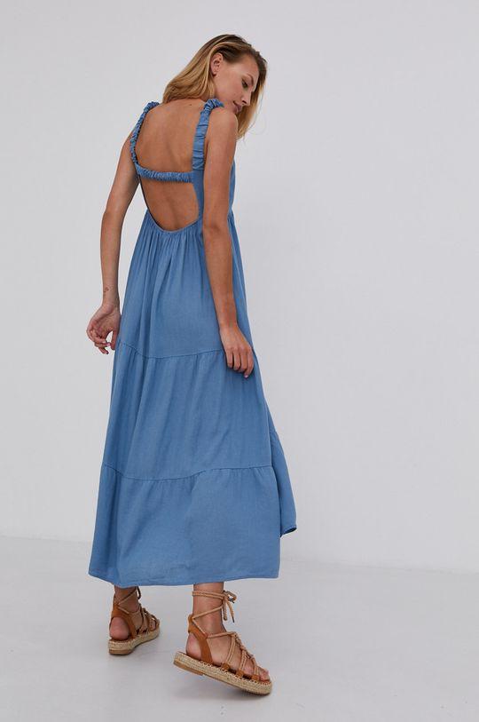 modrá Answear Lab - Šaty Dámský