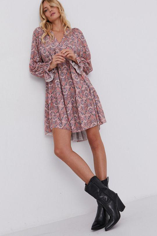 różowy Answear Lab - Sukienka Damski