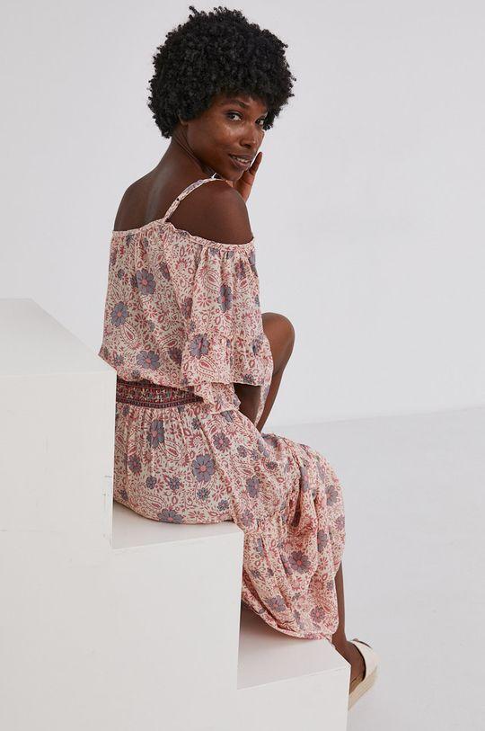 Answear Lab - Šaty se směsí hedvábí Silk Blend  50% Hedvábí, 50% Polyamid