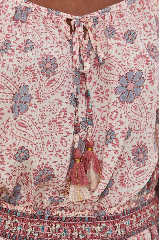 Answear Lab - Šaty se směsí hedvábí Silk Blend Dámský