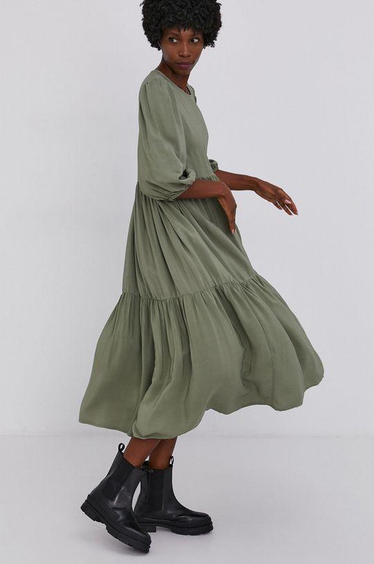 militarny Answear Lab - Sukienka