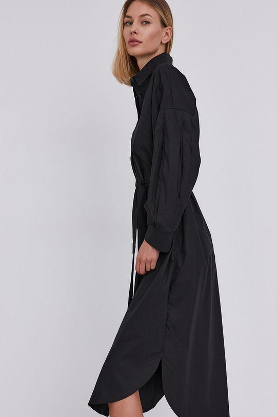Answear Lab - Sukienka bawełniana czarny