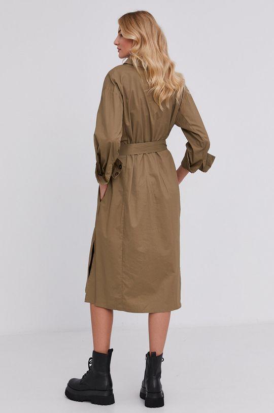 Answear Lab - Sukienka bawełniana zielony