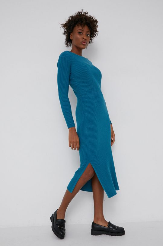 zielony Answear Lab - Sukienka z domieszką wełny Damski