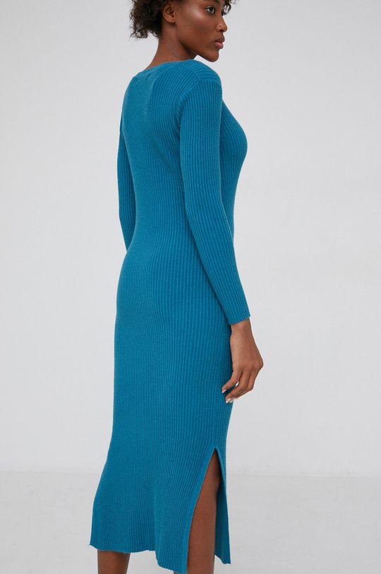 Answear Lab - Sukienka z domieszką wełny 20 % Nylon, 10 % Wełna, 70 % Wiskoza
