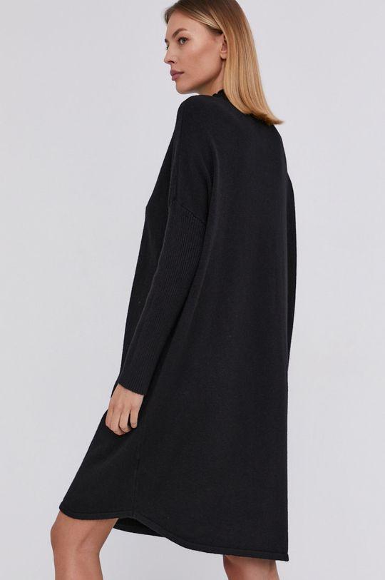Answear Lab - Sukienka z domieszką wełny 10 % Moher, 10 % Nylon, 10 % Wełna, 70 % Wiskoza