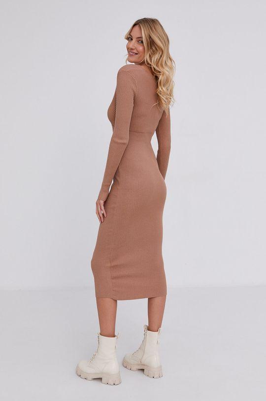 Answear Lab - Sukienka 5 % Elastan, 15 % Poliamid, 80 % Wiskoza