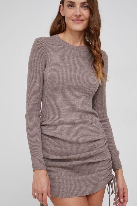 brązowy Answear Lab - Sukienka