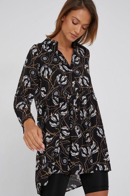 černá Answear Lab - Bavlněné šaty Dámský