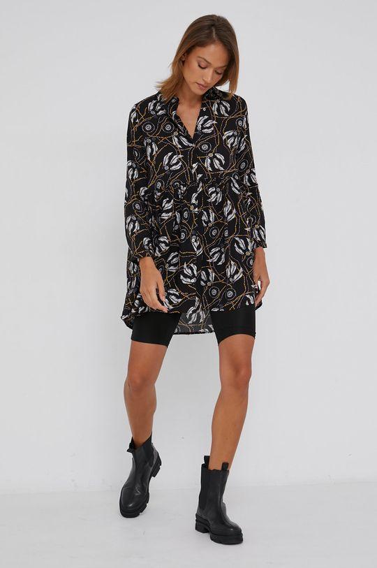 Answear Lab - Bavlněné šaty černá