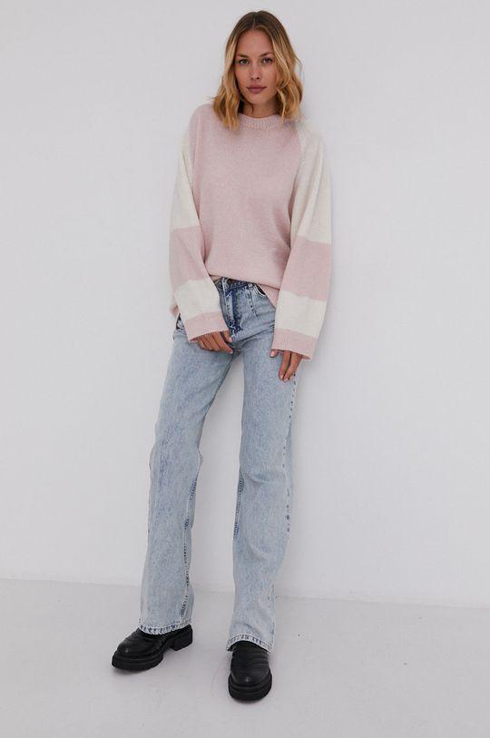 Answear Lab - Sweter różowy