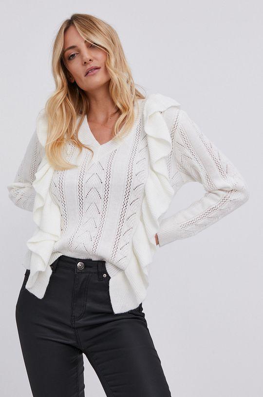 biały Answear Lab - Sweter z domieszką wełny Damski