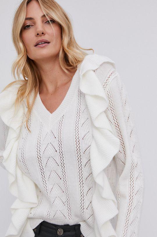 biały Answear Lab - Sweter z domieszką wełny