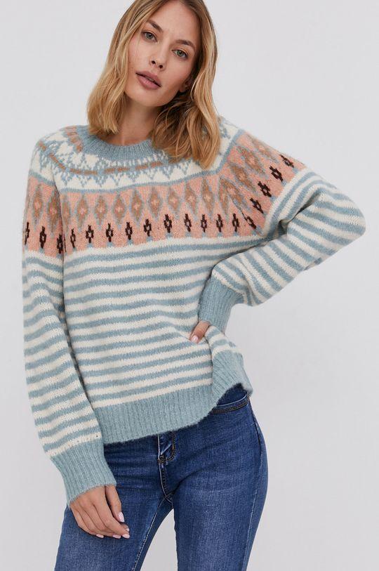 niebieski Answear Lab - Sweter z domieszką wełny Damski