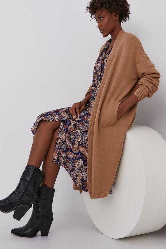 maro auriu Answear Lab - Cardigan De femei
