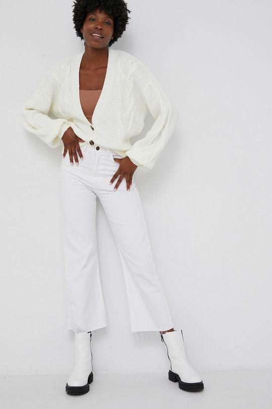 Answear Lab - Vlněný svetr bílá