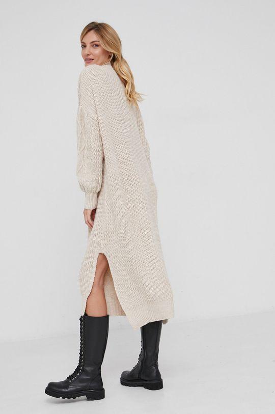 Answear Lab - Sukienka z domieszką wełny 40 % Akryl, 50 % Bawełna, 10 % Wełna