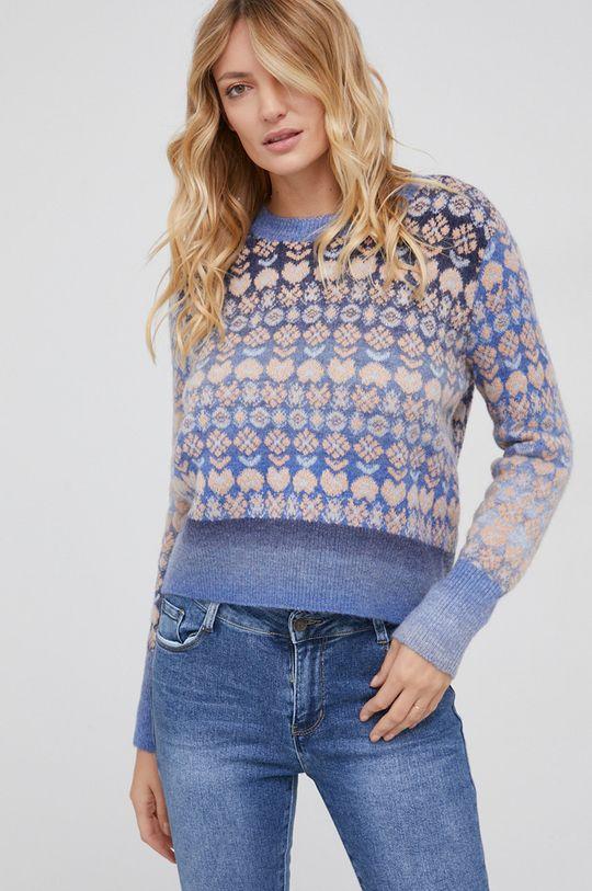 niebieski Answear Lab - Sweter wełniany Damski