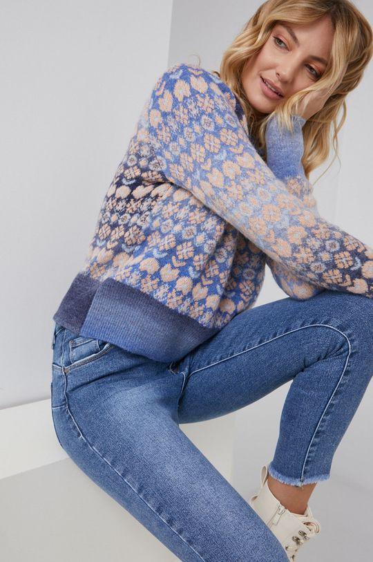 niebieski Answear Lab - Sweter wełniany