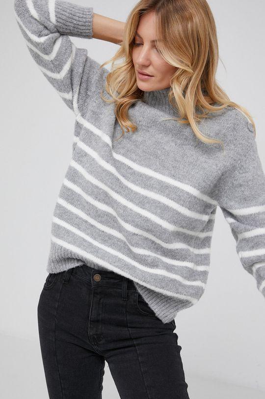 szary Answear Lab - Sweter wełniany Damski