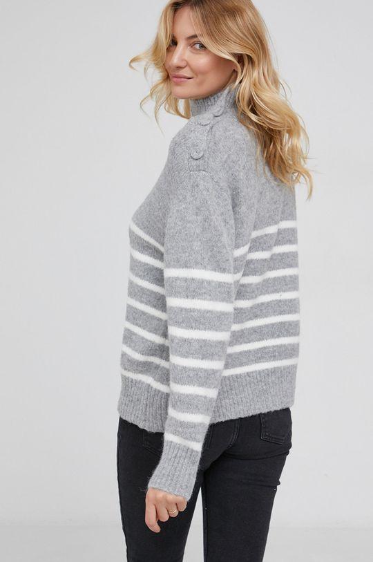 Answear Lab - Sweter wełniany 10 % Moher, 50 % Poliamid, 40 % Wełna