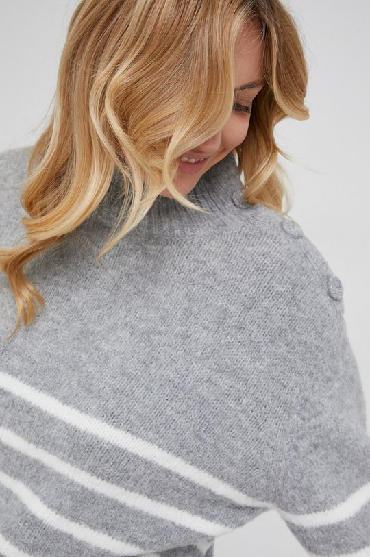 szary Answear Lab - Sweter wełniany
