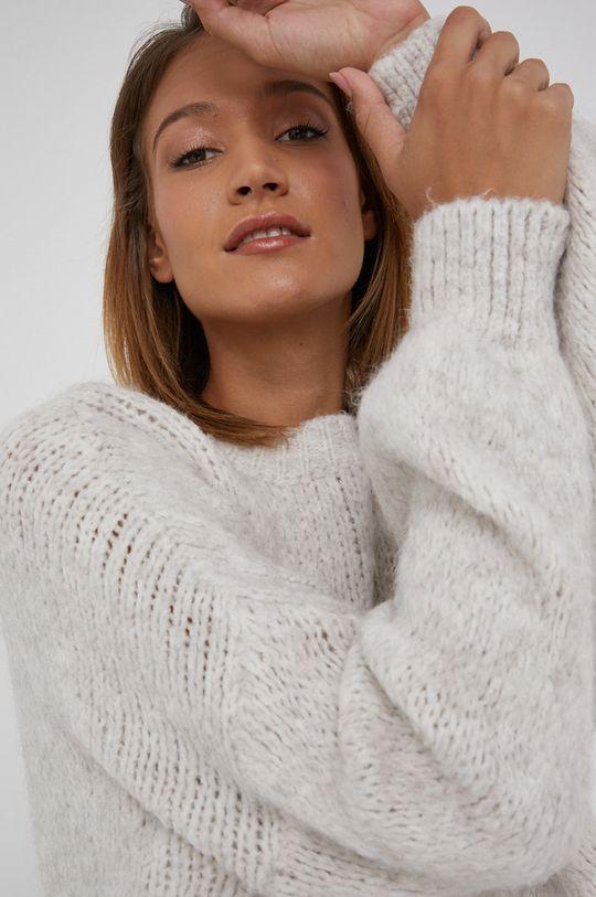 kremowy Answear Lab - Sweter z domieszką wełny