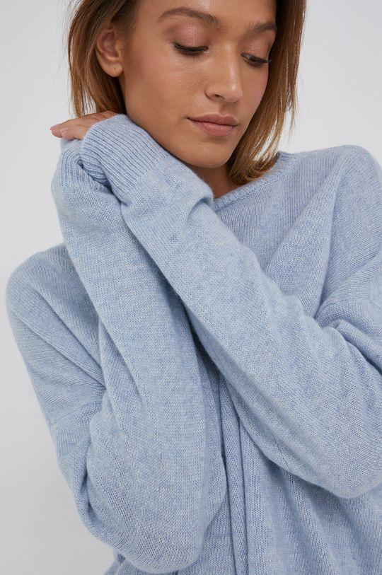 niebieski Answear Lab - Sweter z domieszką kaszmiru
