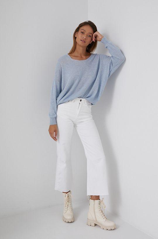 niebieski Answear Lab - Sweter z domieszką kaszmiru Damski