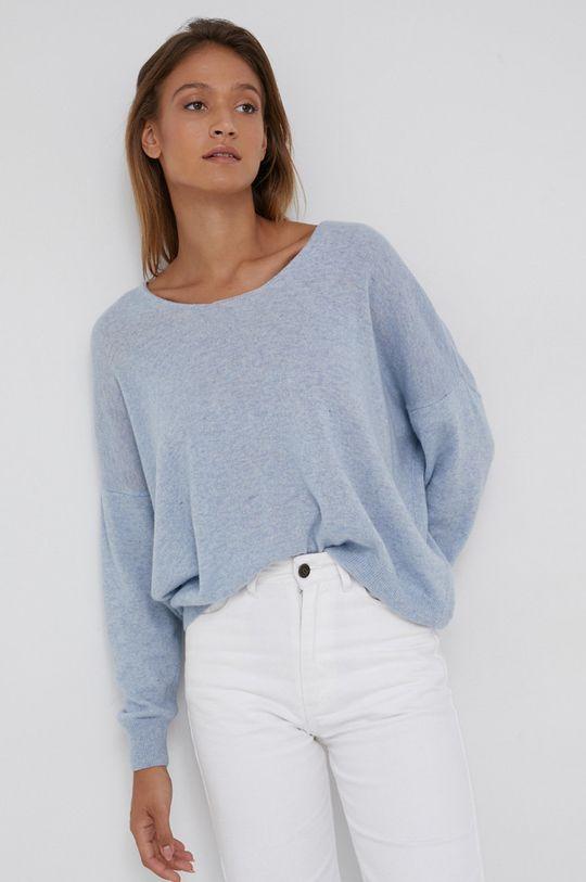Answear Lab - Sweter z domieszką kaszmiru niebieski