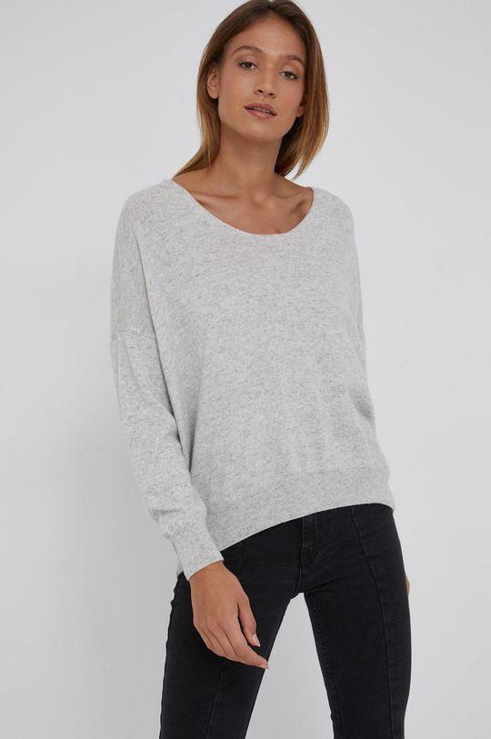 szary Answear Lab - Sweter z domieszką kaszmiru